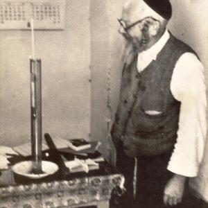 סבא משה שלום במעבדת היקב